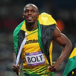 Usain Bolt ran the last leg of Jamaica's men's 4x100m relay