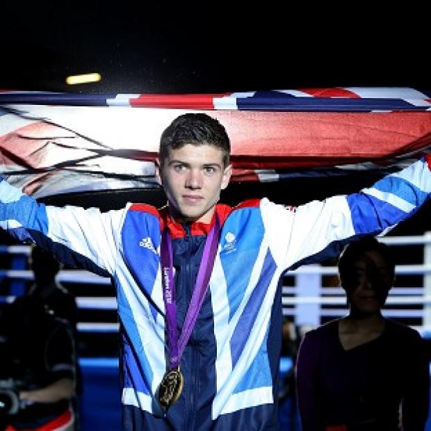 Luke Campbell celebrates winning gold