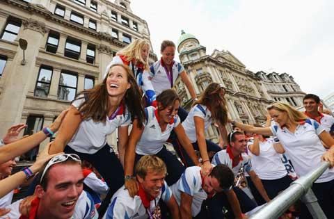 Our playful Olympic rowers
