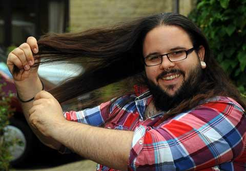 Graphic designer Tom Bull is set to shave his head for charity
