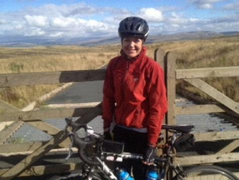 Katie Mann has taken on a 1,000 mile cycle across the length of Britain in aid of MS Trust and The Royal Marsden Cancer Charity