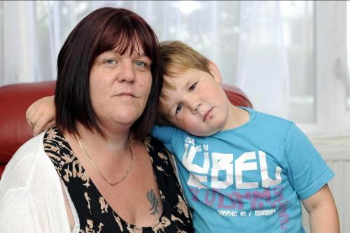Mel Gaskin and her son Jacob will lose out because of the new bedroom tax