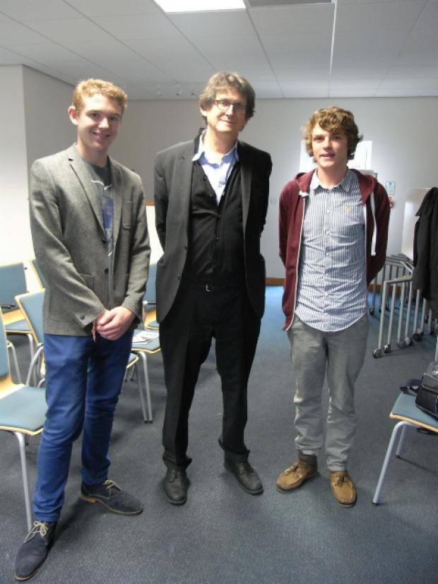 The sixth form at Farmor's school welcomes the Guardian editor Alan Rusbridger