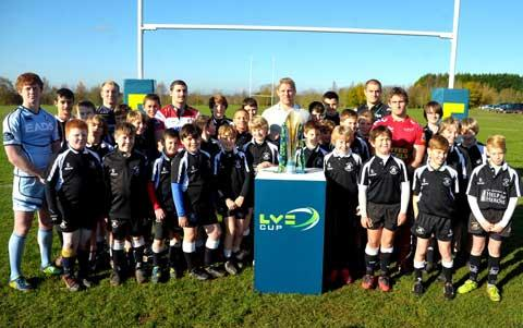 Wootton Bassett RFC juniors welcome the stars of the Premiership