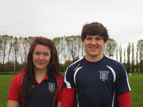 Becky and Harry Wilson of Cirencester RFC