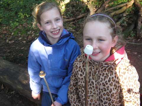 left to right: Evie Wilkinson and Scarlett Saville