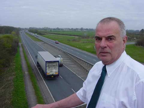 Wiltshire councillor (Cricklade, Latton and Marston Meysey) Peter Colmer has campaigned against the road surface noise created by the A419