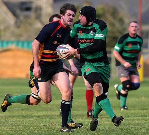Action from Fairford's win over Bath Saracens