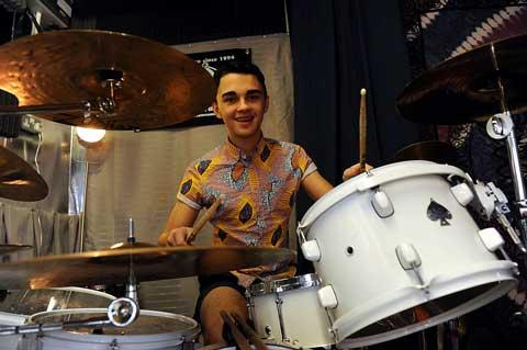 Drummer Will Downes-Hall who is now giving lessons at The Drum Den