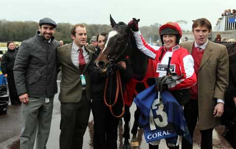 Monbeg Dude after winning the Welsh National