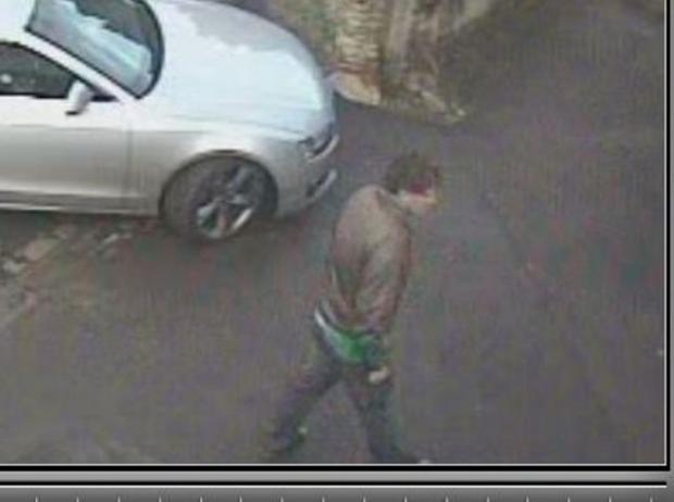 The man police would like to speak to in connection with the theft of a handbag at Crudwell over Christmas
