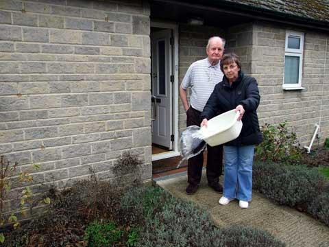South Cerney neighbours Sheila Evans and Don Muttitt