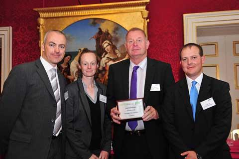 The Deer Park Archers team which collected a Sport and Recreation Alliance award. Roger Crang is second from the right
