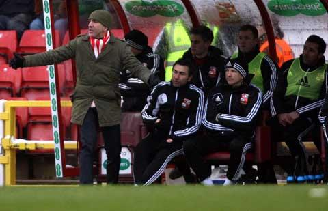 Paolo Di Canio and his bench