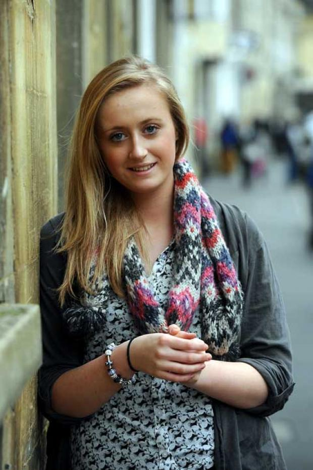 Young volunteer Amy-May Knowles