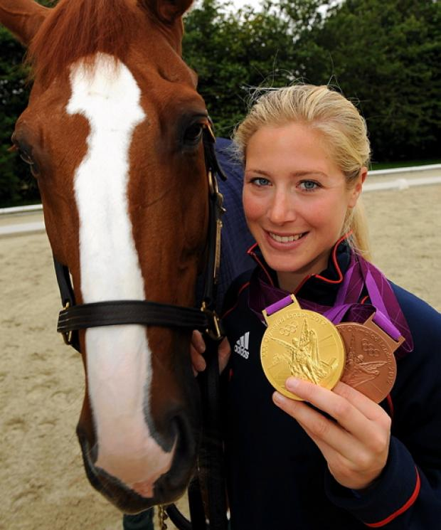 Olympic hero Laura Bechtolsheimer, who is set to appear at charity event Holy Trinity Church, Long Newnton near Tetbury