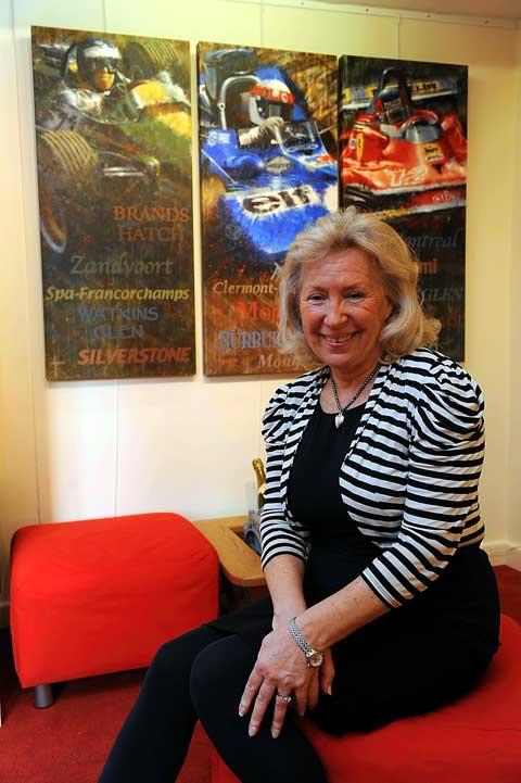Christine Mills, MBE, owner of the new Pole Position gallery in Tetbury