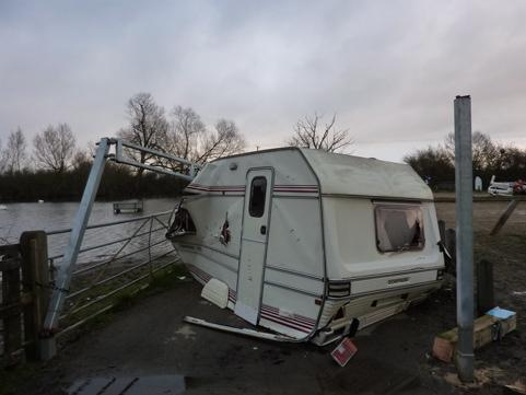 Fly tippers strike at Cotswold Water Park
