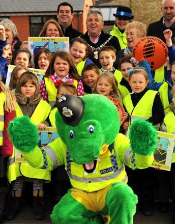 Colin the Crocodiel to accompany Gloucestershire Police on visit to schools in Nailsworth