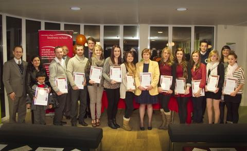 The 2012 Cirencester College apprenticeship graduates