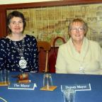 New Tetbury mayor Cllr Liz Farnham and deputy mayor Cllr Sandra Ball