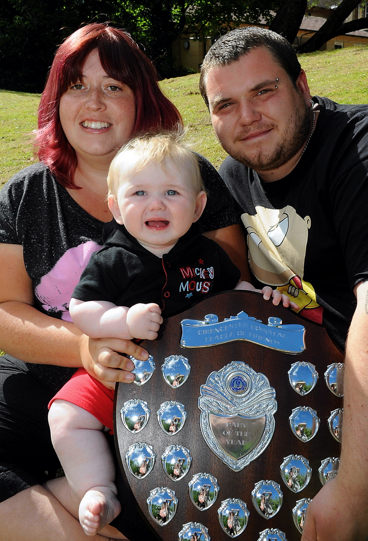 Oakley Norris, overall winner of the Cirencester hospital baby show pictured with proud parents Nichola Adams and Tom Norris
