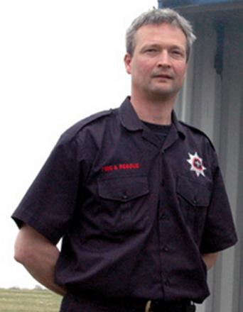 Malmesbury retained firefighter and former fire chief at Cotswold Airport Steve Mills