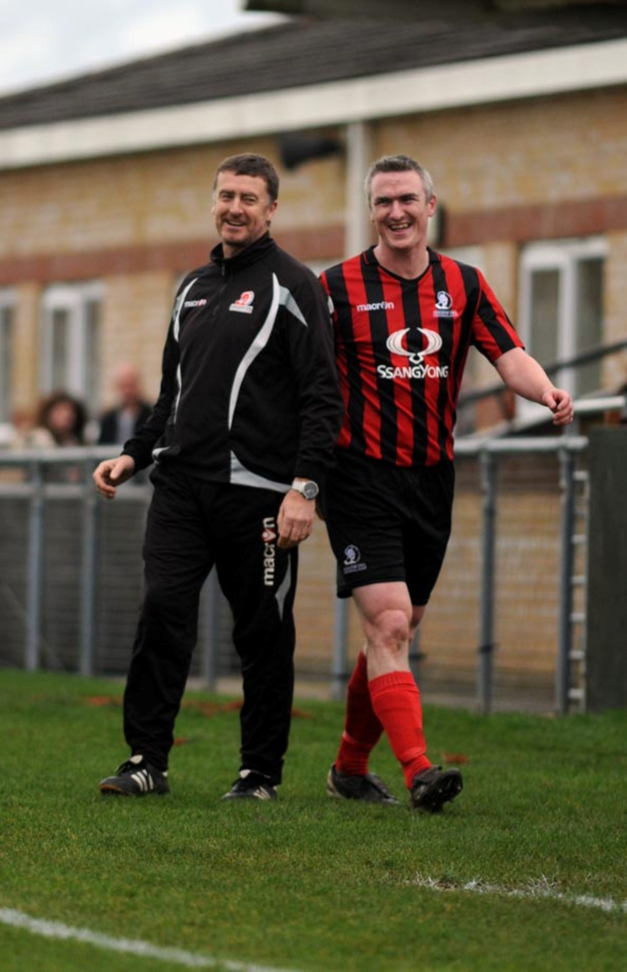 Jody Bevan and his manager Brian Hughes
