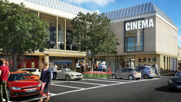 An artist's impression of the cinema complex in Cirencester's Brewery Court