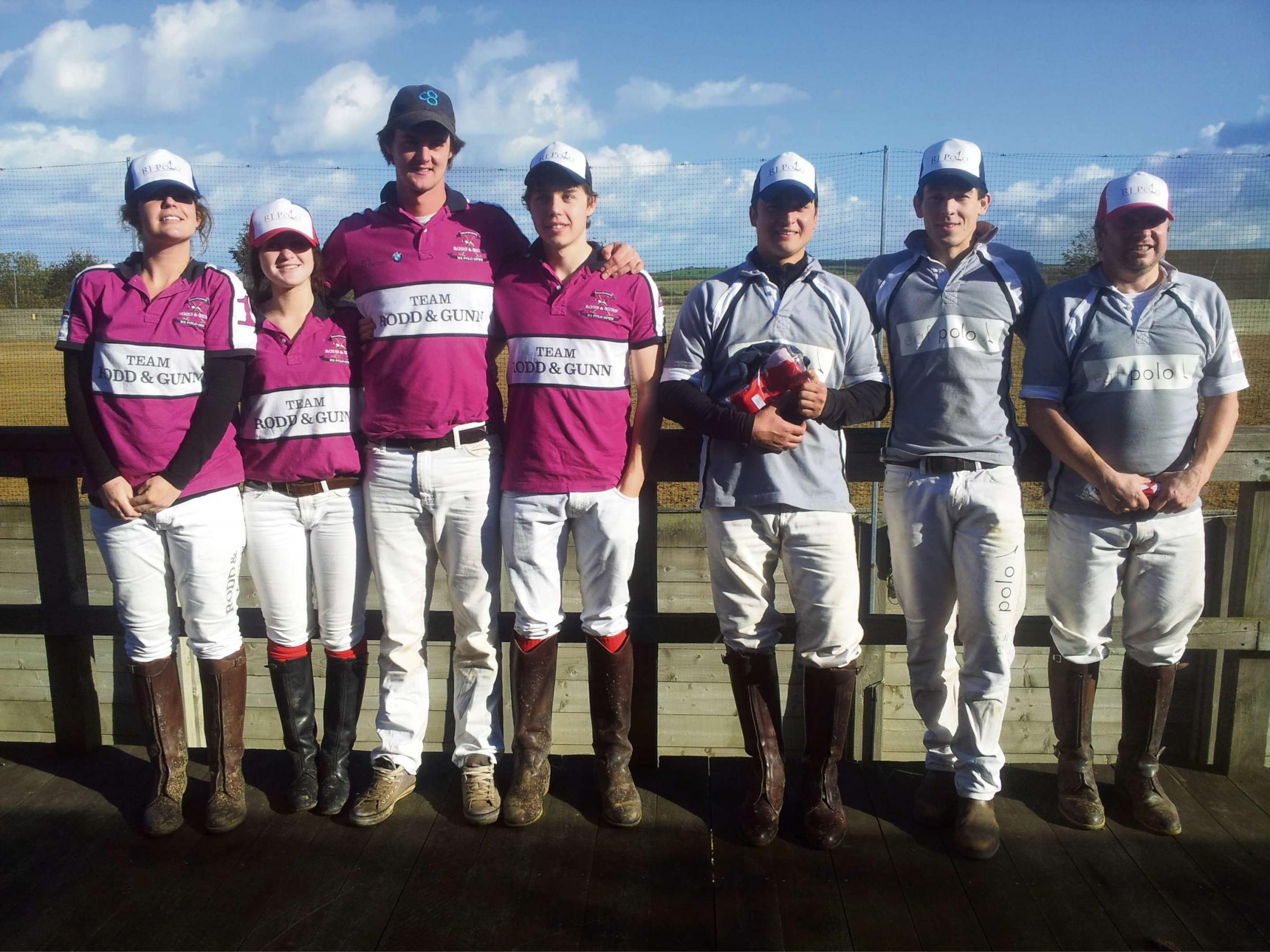 Matt Evetts, third from left, with the finalists of the first arena tournament of 2013 at Inglesham Polo Club.  (2393126)
