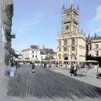 Wilts and Gloucestershire Standard: Artist impression of the revamped Market Place in Cirencester