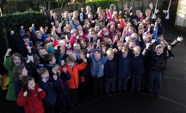Ampney Crucis Primary School celebrates being one of the