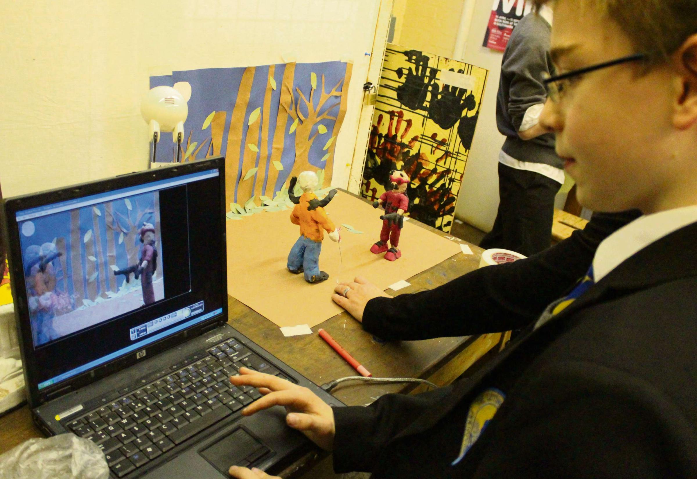 Bourton pupils turn clay models into movie magic