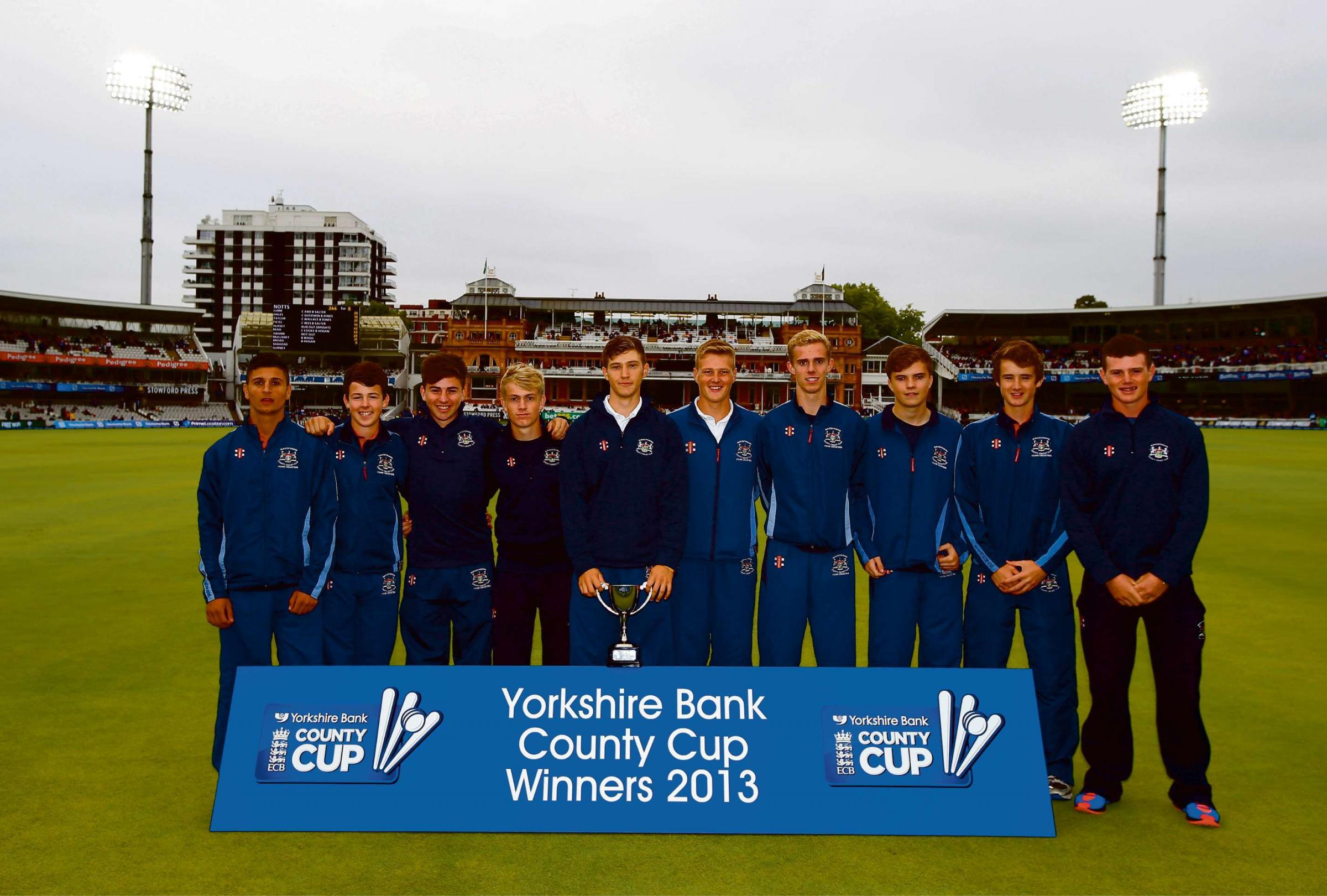 The successful Gloucestershire U17s cricket t