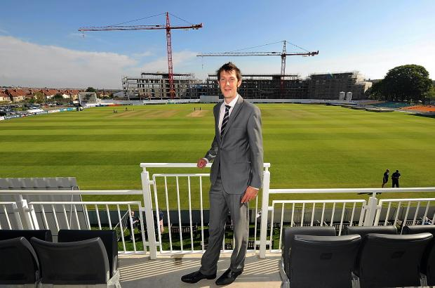 Gloucestershire CCC Chief Executive Will Brown at the County Ground. Pic By Martin Bennett (3397842)