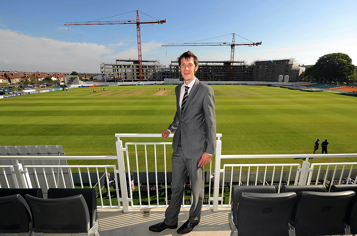 Gloucestershire CCC Chief Executive Will Brown at the County Ground