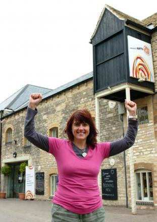 Ali Russell outside New Brewery Arts