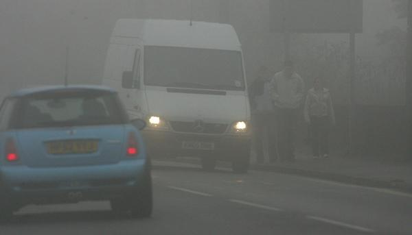Crashes on foggy roads in Wiltshire