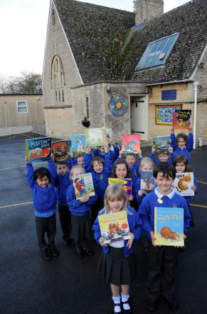 Pupils at Meysey Hampton Primary School