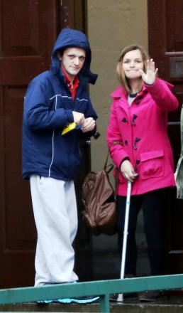Scott McKenna with his mother outside Gloucester Crown Court