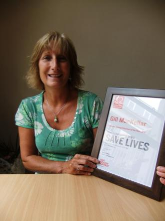 Cirencester fundraiser Gill Mackellar named as Volunteer of the Year by British Heart Foundation