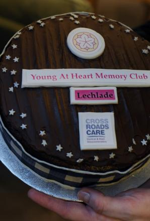 The re-launch cake at Lechlade Memory Club