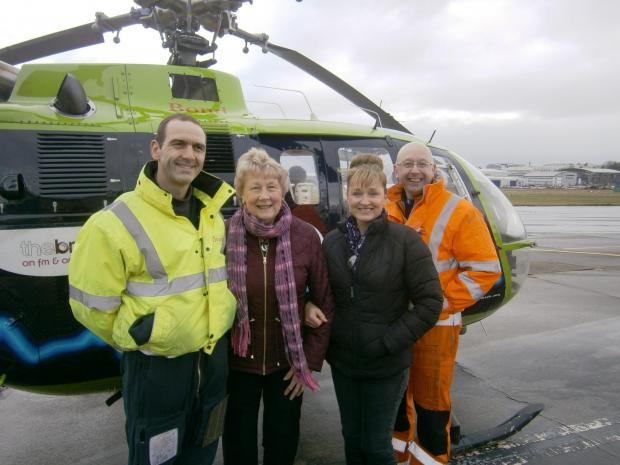 Mother and daughter from South Cerney donate Great Western Air Ambulance with £3,000 following charity skydive
