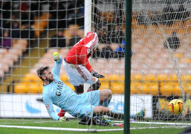Nile Ranger scores Swindon's opener against Port Vale