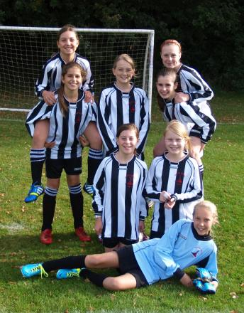 The Ashton Keynes Girls' U12s team who have just clinched their league title
