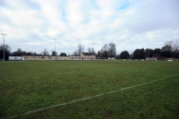 Land next to Fairford Football Club where the development is planned