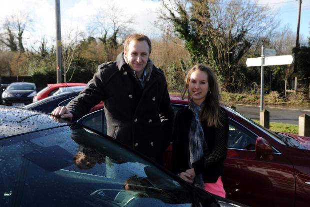 Richard King is giving away a car worth £3,000 as part of a random act of kindness. Pictured with him is Amy Slater who nominated him to perform an act.