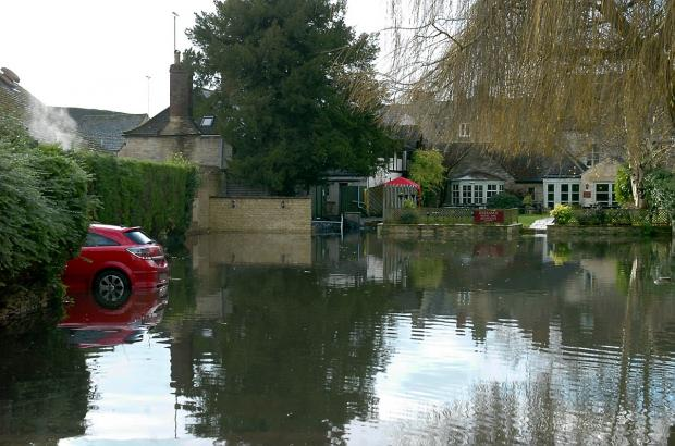 Heavy rain brings internal flooding to 38 properties across the Cotswolds
