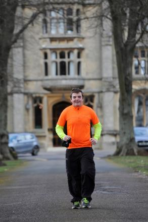 Royal Agricultural University student Jamie Cipriani prepares to run London Marathon for St John's Ambulance