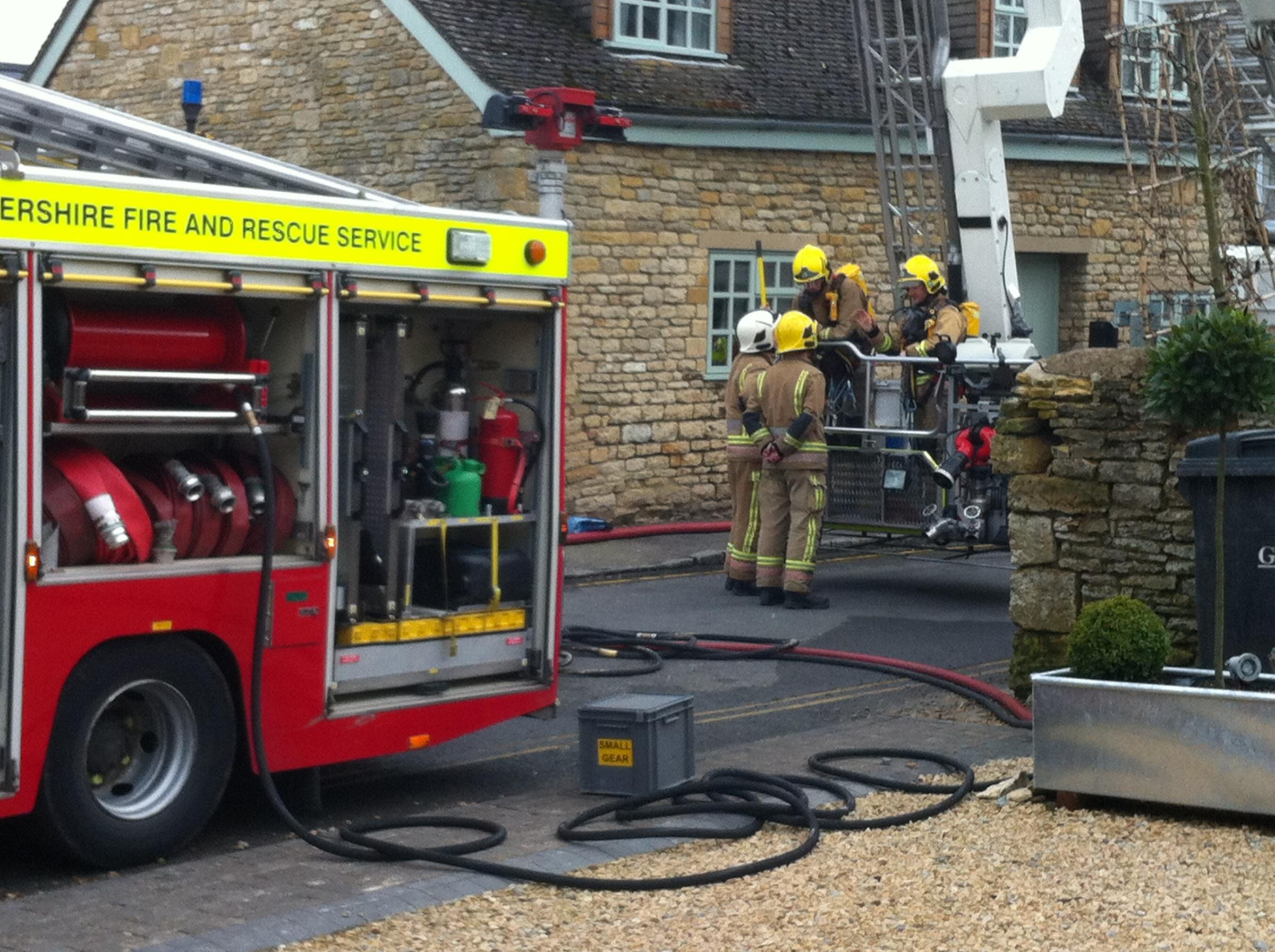 Updated with pictures: Blazing house fire at Stow-on-the-Wold